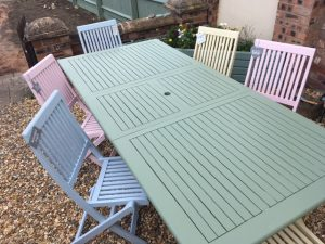 How To Paint Garden Furniture With Pastel Colours